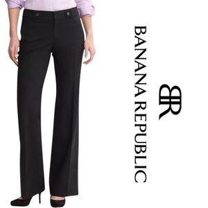 BANANA REPUBLIC✨Black Jackson Fit Trousers 8 Long